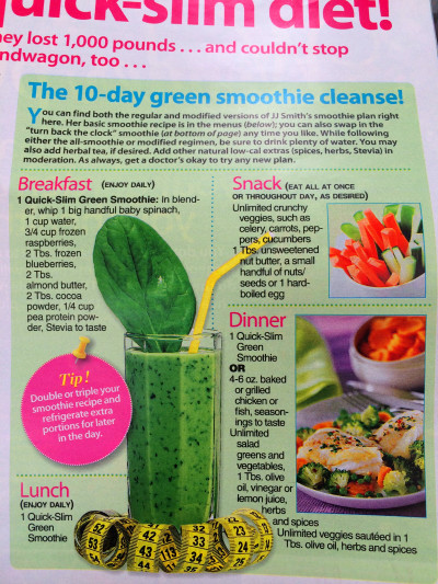 10 Day Green Smoothie Cleanse By Jj Smith 2014 Food List ...