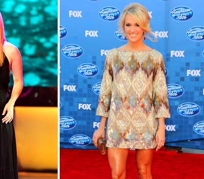 Country crooner Carrie Underwood looked quite cute during her stint on ...