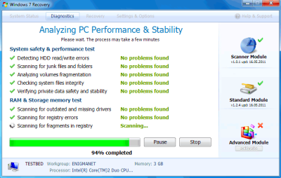 Fake PC Security Program Windows 7 Recovery Promises ...