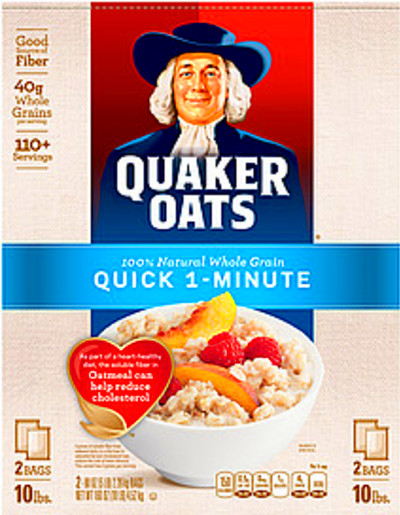 Quaker Oats Instant Oatmeal Quick 1-Minute 10.0 Lb Nutrition Information | ShopWell