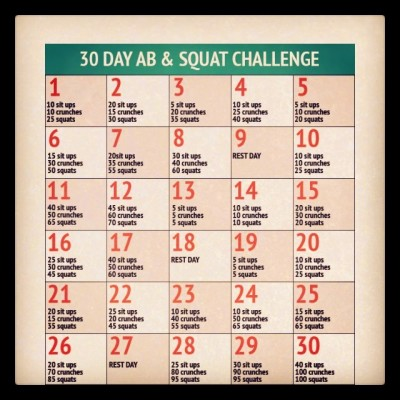 30 Day Ab And Squat Challenge | Trusper