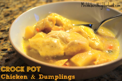 Recipe: Crock Pot Chicken and Dumplings
