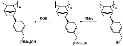 Brevetto WO2011072304A2 - Norbornene-type polymers having quaternary ammonium functionality ...