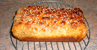 Pour mixture into a loaf tin (I line mine with baking paper) and cook ...