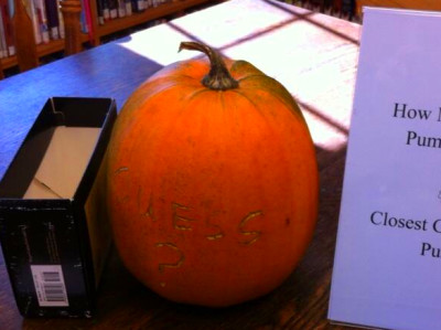 How much does our Pumpkin Weigh? | Readfield Community Library