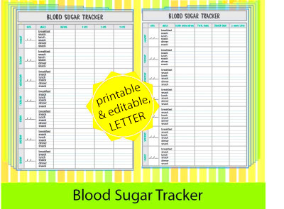 Blood Sugar Log Large Print – Help for Diabetic