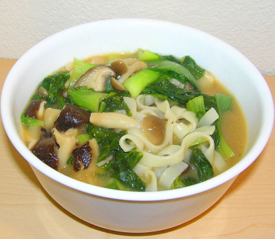 Japanese Noodles in Miso Soup