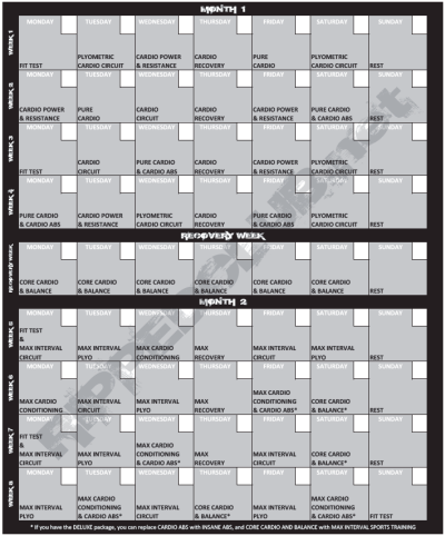 Free Printable Insanity Workout Calendar | Male Models Picture