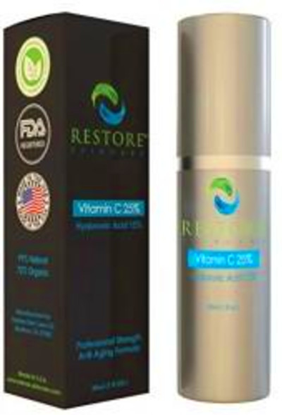 BEST VITAMIN C SERUM 25% WITH 15% HYALURONIC ACID BY Restore Skin Care ...