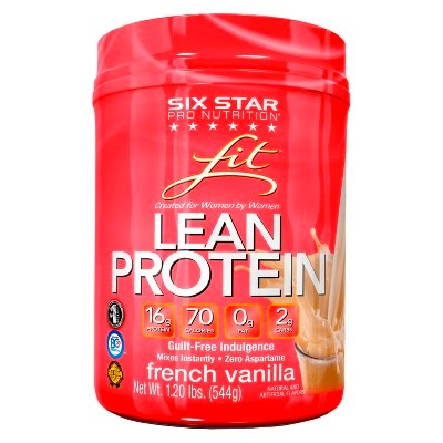 Six Star Fit Lean French Vanilla Protein Powder for Women - 1.20 lbs ...