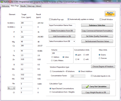 HydroBuddy v1.50 : The First Free Open Source Hydroponic Nutrient Calculator Program Available ...