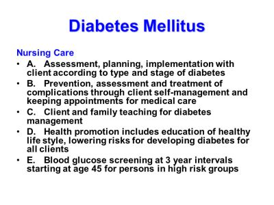Diabetes Mellitus Definition: metabolic disorder characterized by hyperglycemia due to an ...
