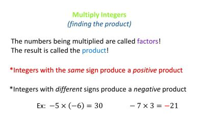 ALGEBRA 1 Operations with Integers - ppt video online download