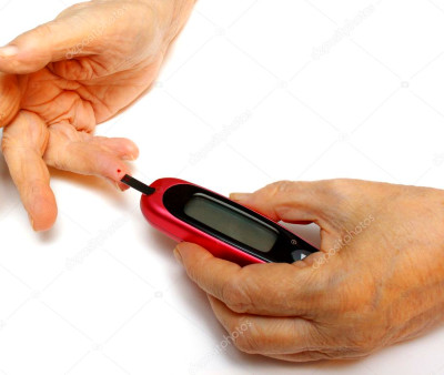 Self-monitoring of blood glucose levels — Stock Photo © VasikO #1487397