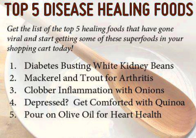 Top 5 disease healing foods : | Daily Inspirations for ...