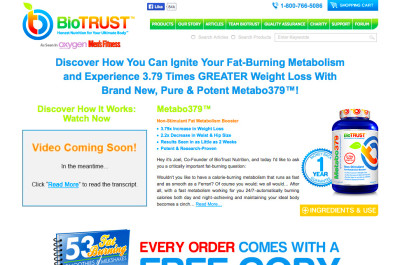 Metabo379 Reviews - BioTrust Metabolism Pill Good?