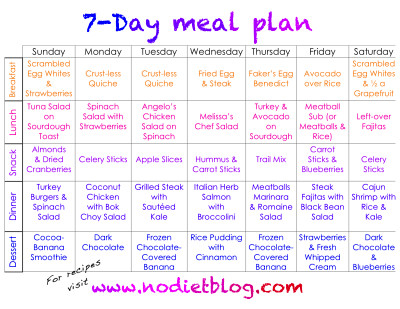 30 day meal plan for weight loss
