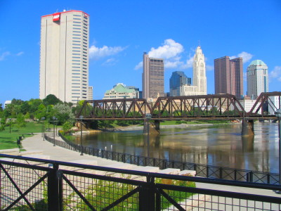 Mynd:View of Downtown Columbus Ohio OH from North Bank Park Pavillion ...