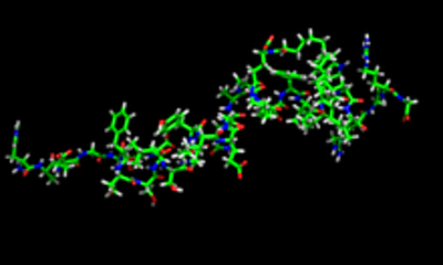 NMR structure of liraglutide. PDB entry 4apd