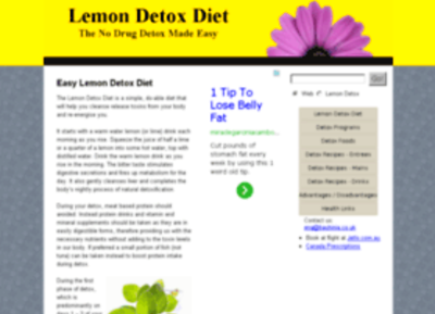 Yolanda Lemon Detox Recipe at Website Informer