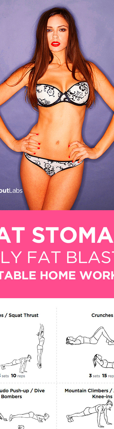 Free PDF: Flat Stomach Belly Fat Blaster at Home Workout for Women ...