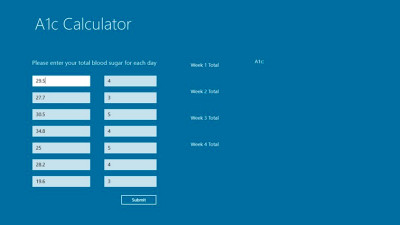 A1c Calculator app for Windows in the Windows Store