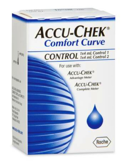 Accu-Chek Comfort Curve Control Solution, 4 mL High / Low, Accessory ...