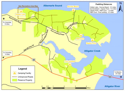 This map of the Palmetto-Peartree Preserve shows the network of ...