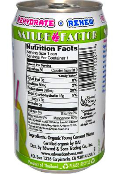 Nature Factor Coconut Water | Coconut Water
