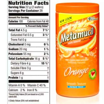 Metamucil Ingredients Review - Does This Fiber Supplement Work?