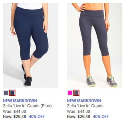 Nordstrom: Zella Live-In Capris for $26.40 shipped (lowest price ...