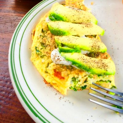 Egg Omelette with Avocado Slices - Further Food