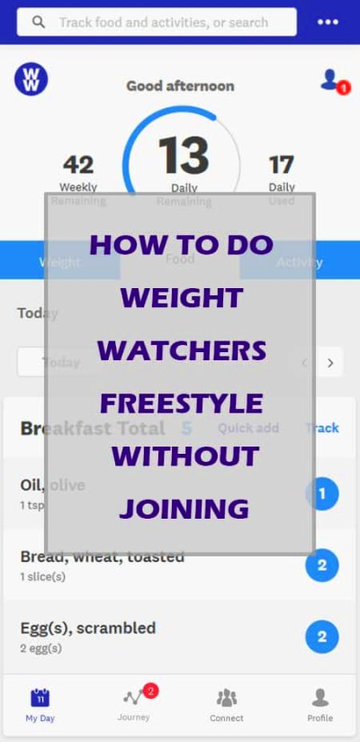 How To Do Weight Watchers Freestyle Without Joining