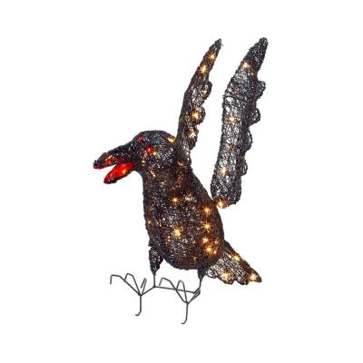 Home Accents Holiday 30 in. Pre-Lit Grapevine Crow-TY061 ...