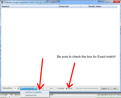 ... are in, click the Export dropdown, and Export content of grid as csv