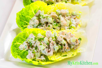 Easy Low Carb Chicken Salad Wraps Recipe | My Keto Kitchen