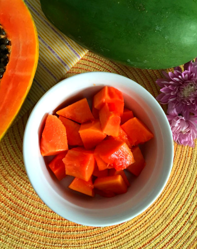 My Sweet Zepol » Papaya and Vanilla Glucerna Smoothie