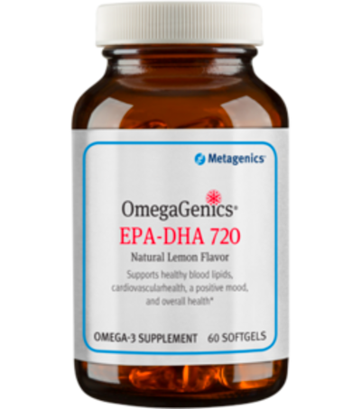 Metagenics OmegaGenics EPA-DHA 720 Lemon 60, 120, 240 gels - Nature's Country Store