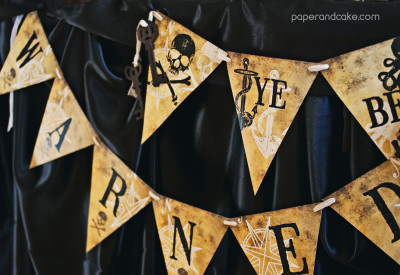 Haunted Pirate Halloween Printable Party - Paper and Cake Paper and ...