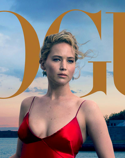 Annie Leibovitz shoots Jennifer Lawrence for Vogue ...