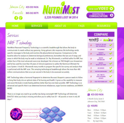 NutriMost Website Design Analysis – Knoxville, TN | Maniac Marketing ...