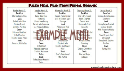 Miami Lakes Healthy Meal Plan - Primal Organic