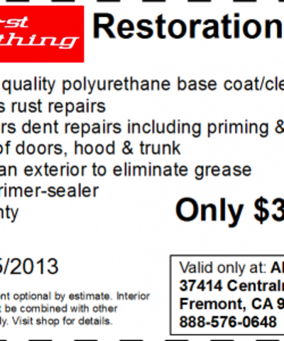 Full Car Restoration Coupon | Print Coupon King
