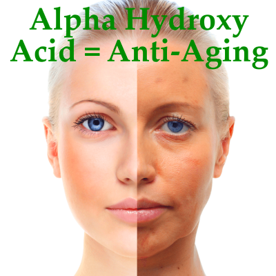 Dr Oz went into the world of Alpha Hydroxy acids. These are acids that ...