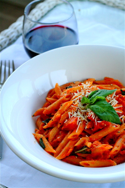 Spicy Penne Alla Vodka | The Curvy Carrot