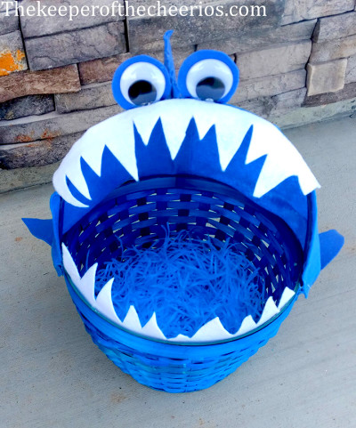 Shark Easter Basket - The Keeper of the Cheerios