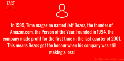 Jeff Bezos – Time magazine 1999 Person of the Year