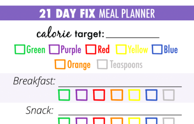 21 Day Fix Meal Planner Download (PDF)