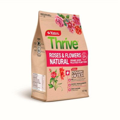 Yates Thrive 1.5kg Natural Roses and Flowers Organic Based ...