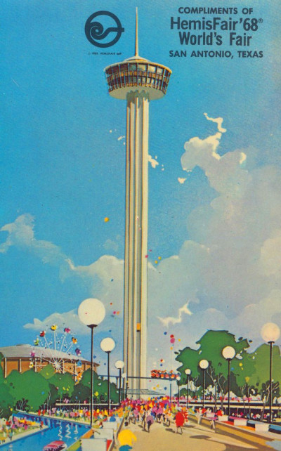 Tower of the Americas at HemisFair '68 - San Antonio, Texa ...